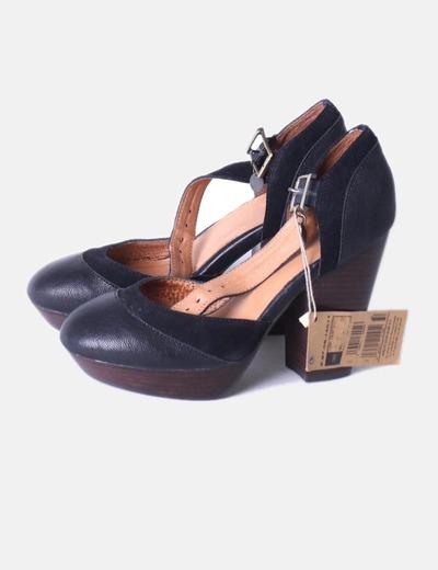fc3ba329c7255 Adolfo Dominguez Zapatos plataforma madera negros (descuento 70 ...
