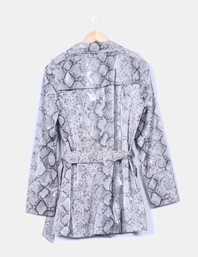 De Micolet 66 Tranchée réduction Zara Manteau Imprimé Serpent Pluie 78pc5Tqw5