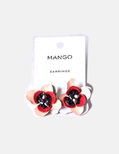aad4870a3d30 Mango Pendientes flor multicolor (descuento 71%) - Micolet