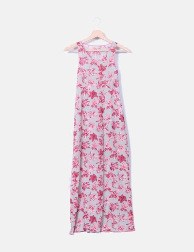 Robe tulle maxi floral TCN