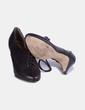 Zapato de tacón marrón abotinado Cortefiel