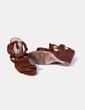 Sandalia combinada con flecos Zara