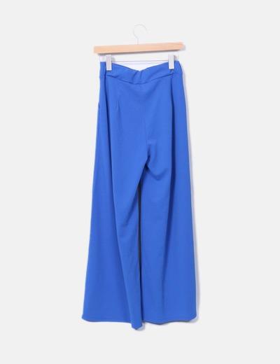 Pantalon palazzo azul