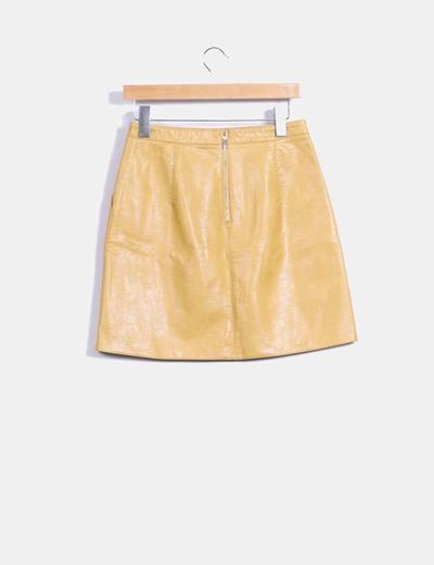 Mini falda color mostaza