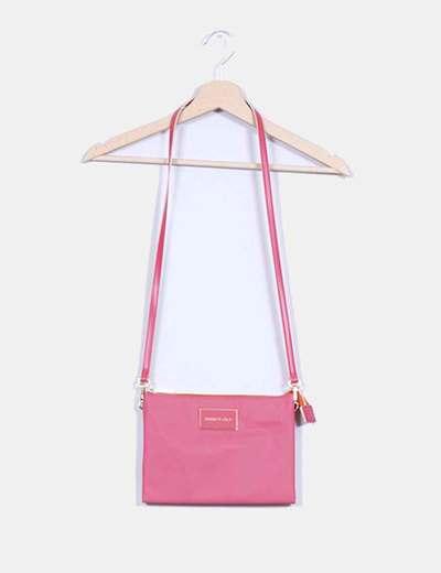 Bolso rosa con cremallera dorada Bimba&Lola