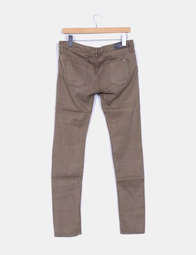 Pantalon denim kaki elastico
