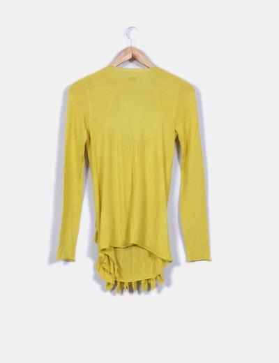 Jersey amarillo tricot con chorreras