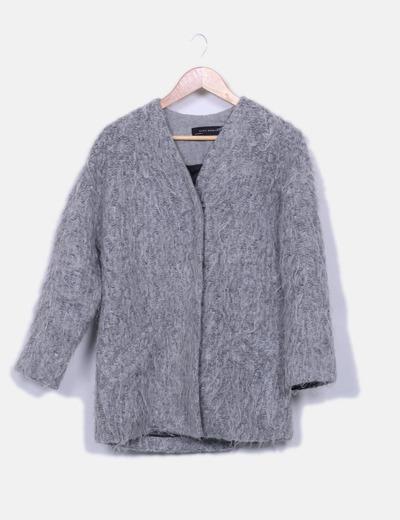 Chaqueton pelo gris Zara