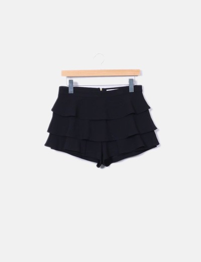 Shorts volantes negros Lefties