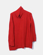 Jersey punto rojo cuello cisne Zara