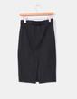 Falda midi negra ajustada con abertura trasera Zara