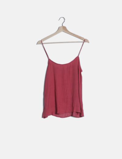 Camisa fluida rosa tirantes