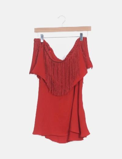 Blusa roja flecos
