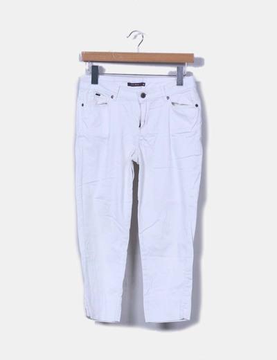 Pantalón pirata blanco Easy Wear