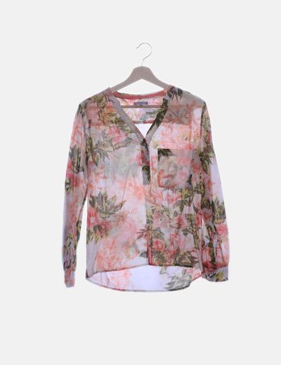 Camisa floral rosa