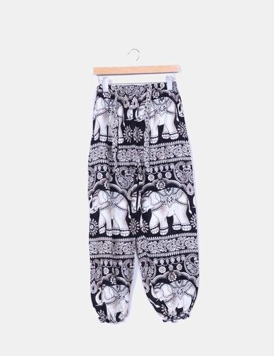 Pantalón gabby fluido print animales NoName