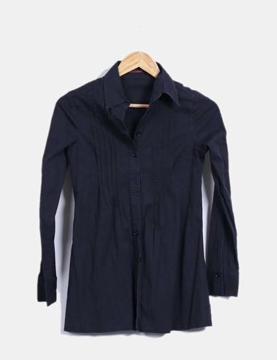 Camisa negra manga larga