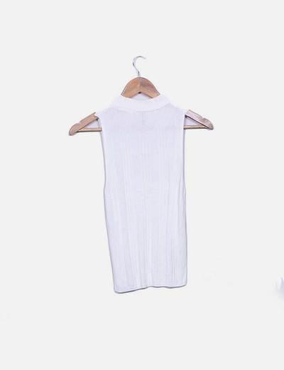 Top tricot blanco