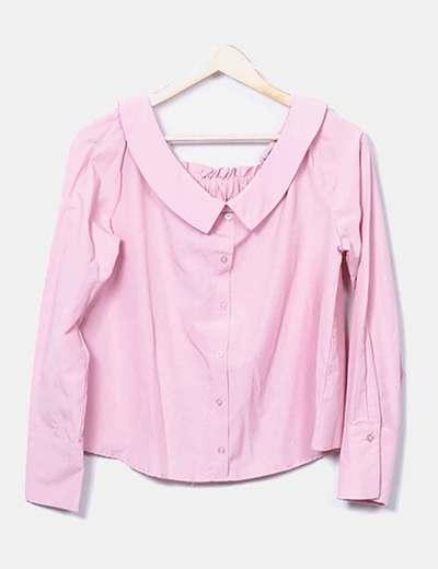 Camisa rosa botones