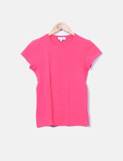 Camiseta básica fucsia