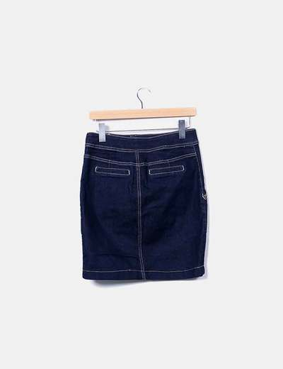 réduction Mini Denim Jupe Boutons Morgan 74 Micolet Bleue WXfSdf6nq