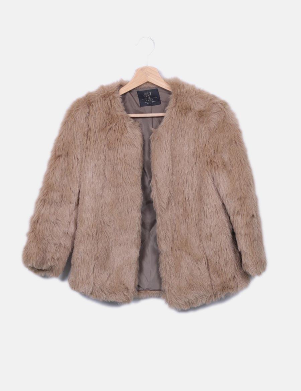 Chaqueta De Beige Y Zara Pelo Mujer Baratos Abrigos Online Chaquetas q5w4EUX4