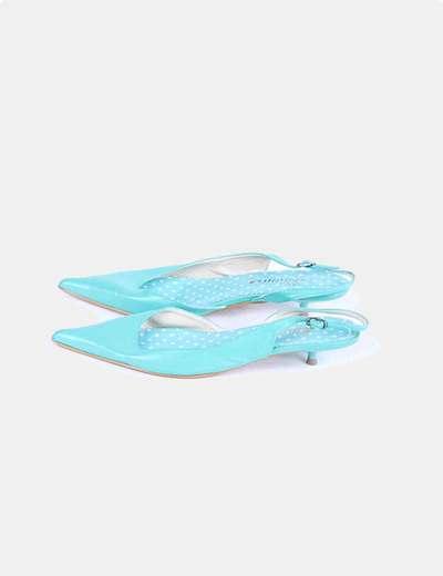 Zapatos turquesa destalonadas Suiteblanco