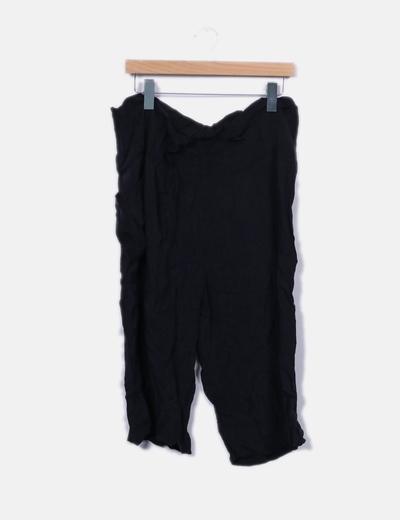 Pantalón fluido negro culotte