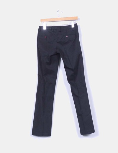 Pantalon negro de pinzas