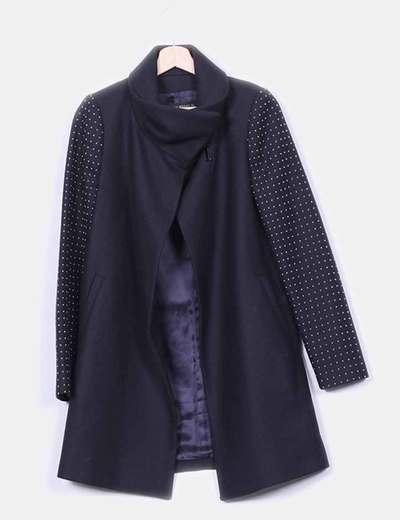 Abrigo marino detalle tachas  Zara