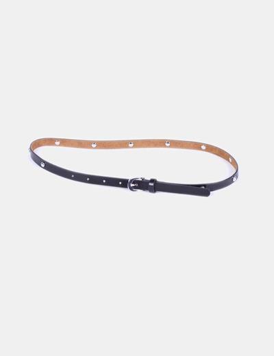 Cinturón negro con tachas NoName