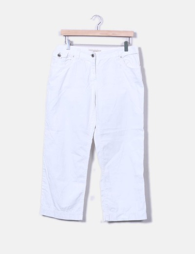 Pantalon recto blanco