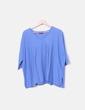 Camiseta azul cuello pico Massimo Dutti