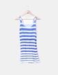 Vestido de rayas blanco y azul Zara