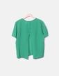 Camiseta texturizado verde Stradivarius