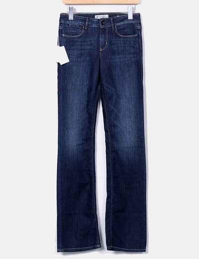 Jeans denim oscuro campana Guess