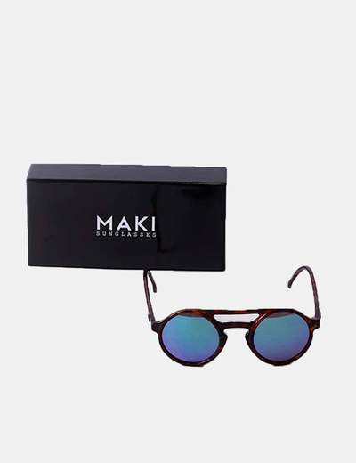 Óculos de sol redondos de vidro polarizado MAKI sunglasses