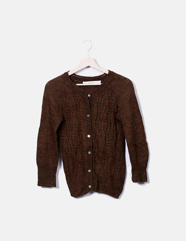 Chaqueta baratos Mujer punto marrón Zara online y Abrigos Chaquetas de  HH87O ... 103add6e4be5
