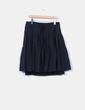 Falda negra midi combinada Zara