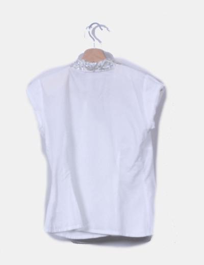 Camisa blanca solapas strass