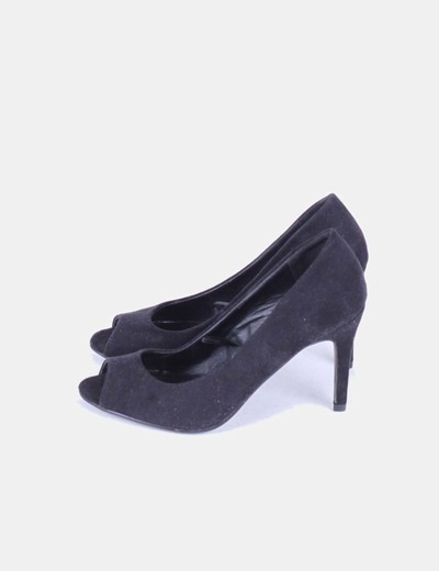 Zapato negro peep toe Atmosphere