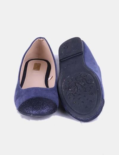 Bailarina azul puntera glitter