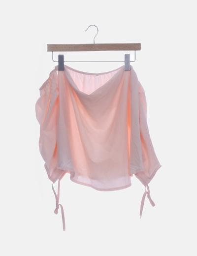 Blusa rosa palo escote barco