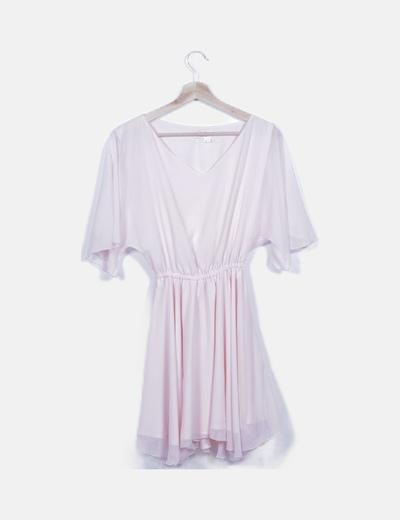 Vestido gasa rosa