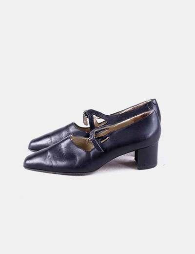 Zapato negro de tacon Audley