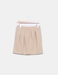 Mini falda globo beige Made in Italy