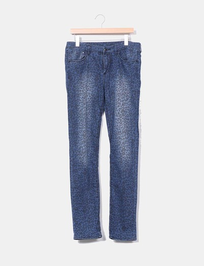 Jeans pitillo print animal  H&M