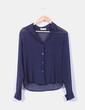 Blusa azul marina con rayas discontinuas  Carmen Labella