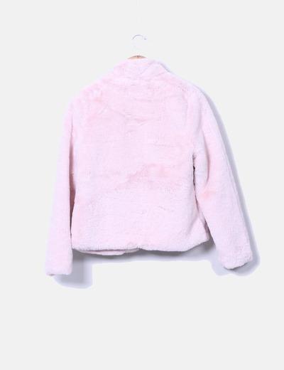 Chaqueta de pelo rosa