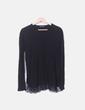 Camiseta fluida negra con encaje Zara